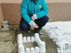Tretješolci pri LUM ustvarjali kipe iz naravnega materiala – snega!